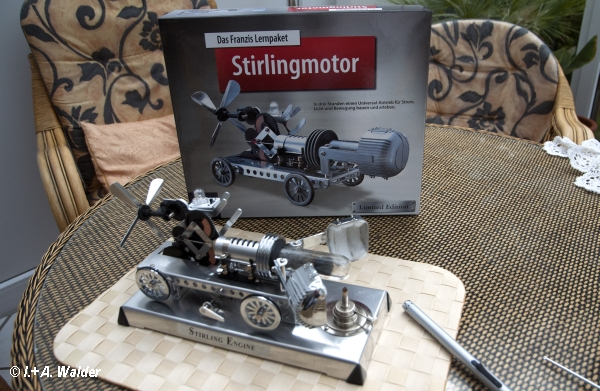 Stirlingmotor Baussatz
